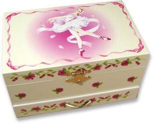 GIRLS JEWELLERY BOXES, CHILDREN'S MUSIC BOXES, Ballerina Musical Jewellery Box CB27