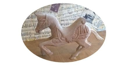 Carved Carousel Horse For You To Decorate