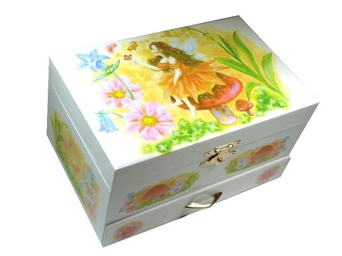 GIRLS JEWELLERY BOXES, CHILDREN'S MUSIC BOXES, Fairy Musical Jewellery Box CB22048.