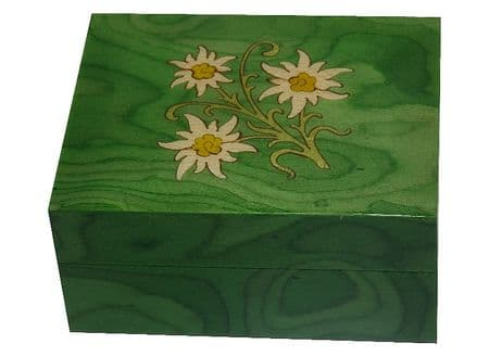 Green Edelweiss Musical Jewellery Box MAD410ELGRL