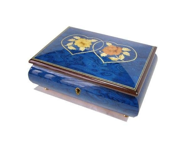 Inlaid Musical Jewellery Box 46/2HC/Blue