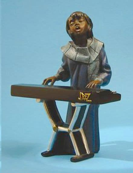 Jazz Band Female Keyboard Player 3175