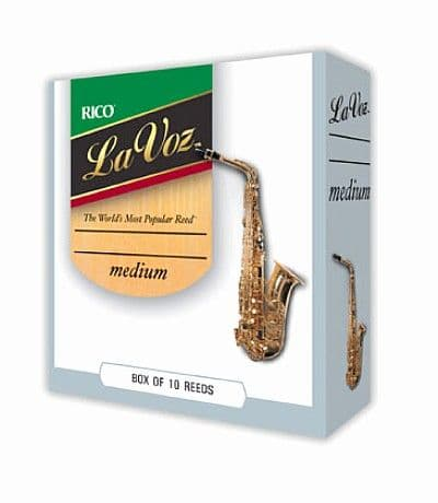 La Voz Tenor Saxophone Reeds Medium Strength