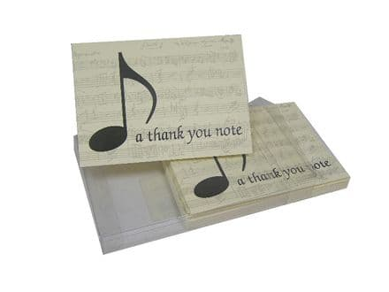 Music Theme Thank You Notes BS01