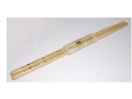 Pell Wood Extra Slim 7A Drumsticks (pair)