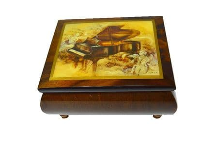 Piano Sonata Design Musical Jewellery Box MBEA0753BRL