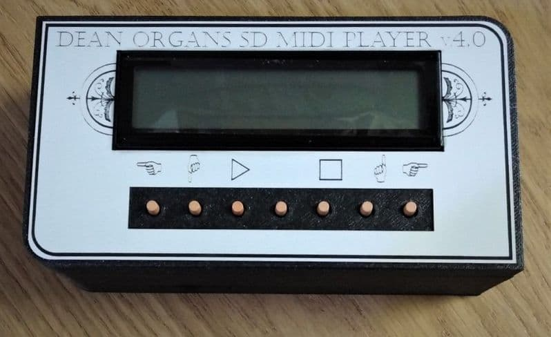 SD Card Midi File Player, available at The Music Box Shop, Whitchurch, Near Bristol, England, UK.