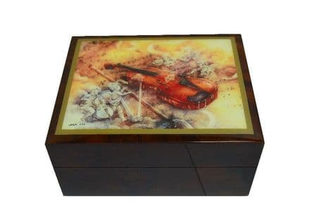 Violin Concert Design Musical Jewellery Box MBEA0752BRL