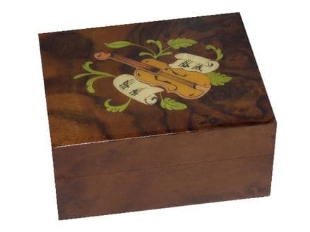 Walnut Instrument Inlay Musical Jewellery Box MAD410MLBRL