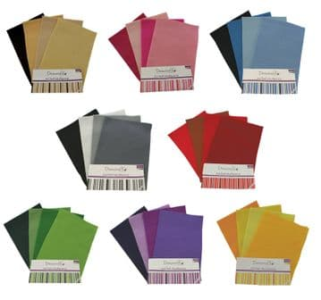 Dovecraft   Felt   Sheets   8 X A4 sheets   per   pack - VARIOUS COLOURS