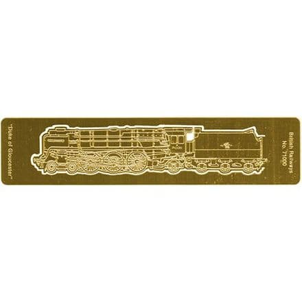 Duke of Gloucester Etched Brass Bookmark