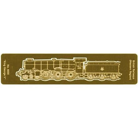 King Gearge V Etched Brass Bookmark