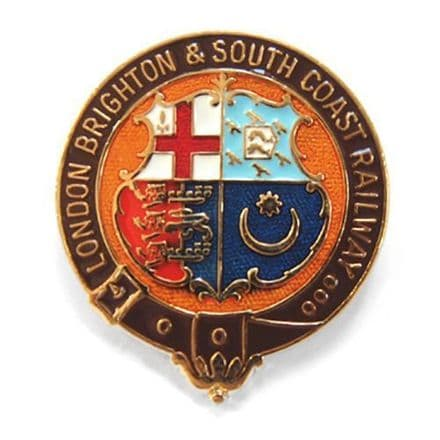 London, Brighton and South Coast Railway (LBSCR) Coat Of Arms Collectors Badge