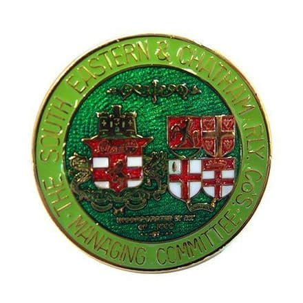 South Eastern and Chatham Railway (SECR) Coat of Arms Collectors Badge
