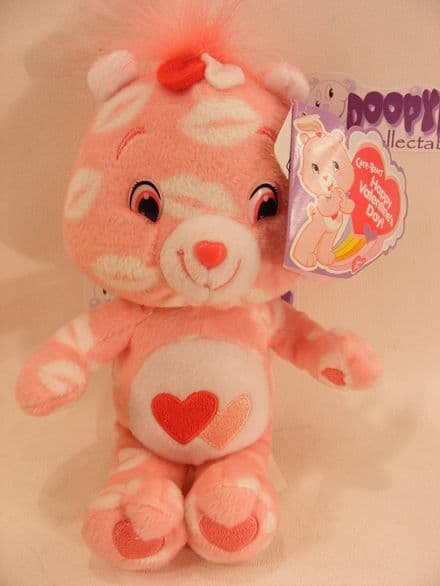 """8"""" VALENTINES DAY LOVE-A-LOT CARE BEARS BEANIE"""