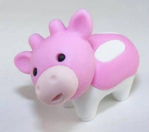 IWAKO NOVELTY ERASERS / RUBBERS - PINK  COW