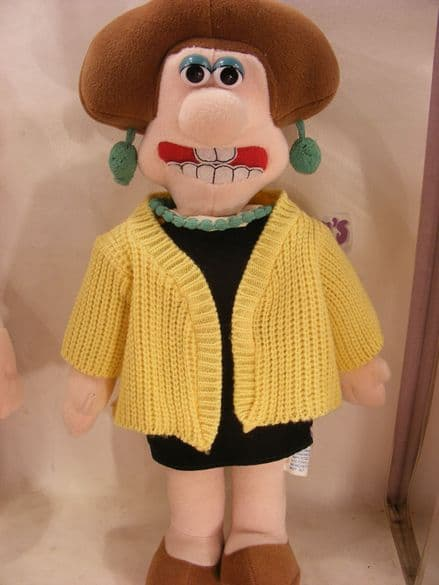 """VINTAGE 12"""" WENDOLENE FROM WALLACE & GROMIT (80S)"""