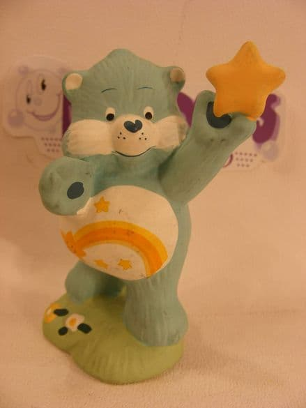 "VINTAGE 4"" CERAMIC WISH CAREBEAR 80S CARE BEARS"
