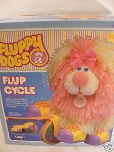 VINTAGE 80'S FLUPPY DOGS FLUP CYCLE - MIB - KENNER