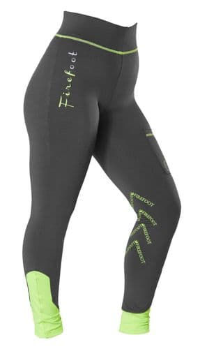 ** LIMITED EDITION ** -  Firefoot Childrens Ripon Stretch Breeches, Grey / Lime