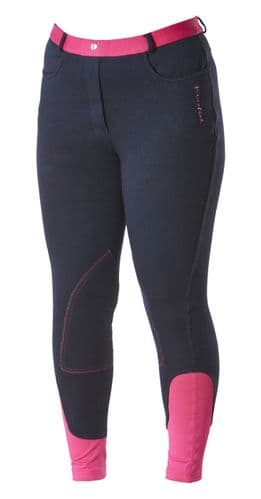 ** LIMITED EDITION ** Firefoot Ladies Farsley Breeches,  Navy / Pink,