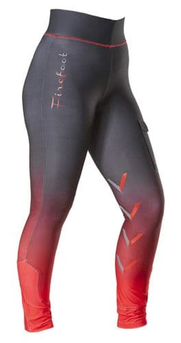 ** NEW FOR 2021 ** -  Firefoot Kids Ombre Ripon Stretch Breeches, Charcoal / Red
