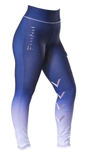 ** NEW FOR 2021 ** -  Firefoot Ladies Ombre Ripon Stretch Breeches, Navy / Lilac