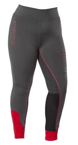 ** NEW FOR 2021 ** - Firefoot Ladies Ripon Sticky Bum Breeches, Charcoal / Red