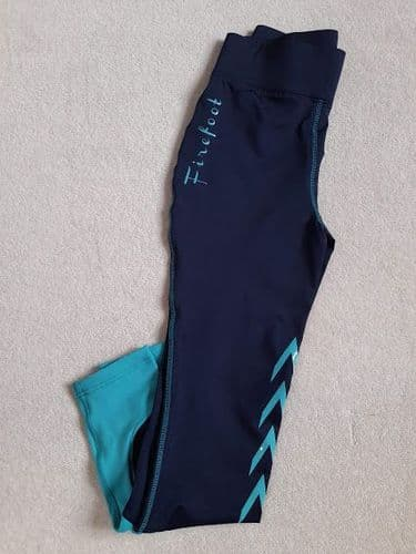"""** SAMPLE ** Firefoot Ladies Ripon Two Stretch Breeches, Navy/Teal, 28"""" (UK10)"""