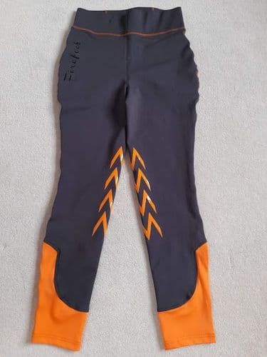 """** SAMPLES ** Firefoot Ladies Burnby Stretch Breeches, Charcoal / Orange, 28"""" (UK10)"""