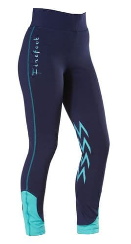 Firefoot Ladies Ripon Two Stretch Breeches, Navy/Teal