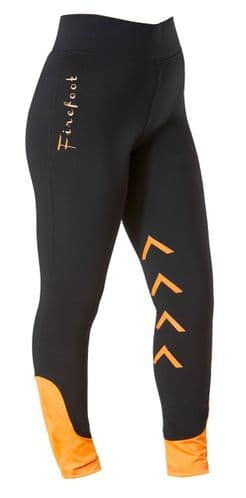 Firefoot Ripon Kids Stretch Breeches. Black/Orange - SPECIAL PURCHASE - 20% OFF RRP