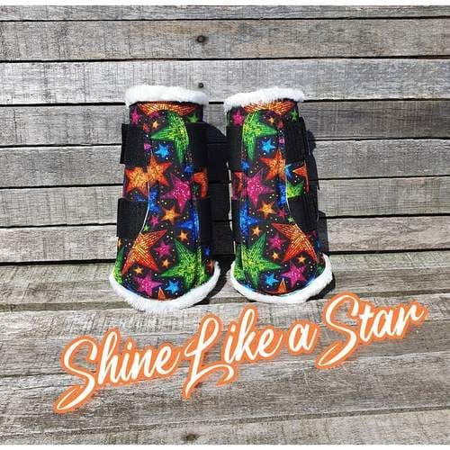 Funky Fit Equestrian Brushing Boot Set, Shine Like a Star