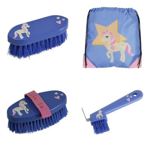 HY Little Rider 'Star in Show' Drawstring Bag & Brushes Set