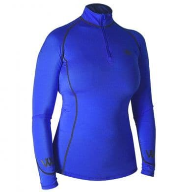 Woof Wear Colour Fusion Performance Riding Shirt, Electric Blue
