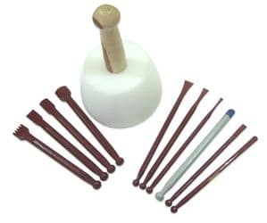 Carbide Tipped Sculptuors Stone Carving Kit for Marble & Soft Stone (Suppliments Kit 1)
