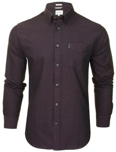 Ben Sherman oxford Shirt 2xl 3xl 4xl 5xl long sleeved PURPLE