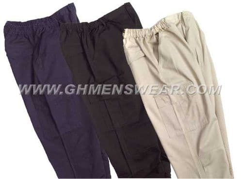 Elasticated Waist Cargo Pants