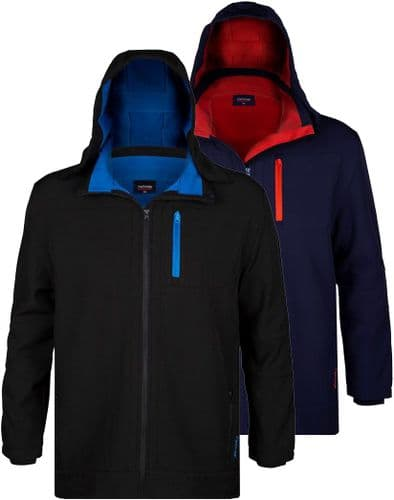 ESPIONAGE Soft Shell Jacket With Detachable Hood