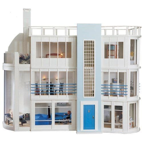 Malibu Beach House Kit , modern art deco style  Dolls House Emporium