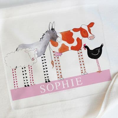 Personalised Baby Blankets | Personalised Gifts | Gifts for Baby | Christening Gifts | Farm Friends | Little Folk
