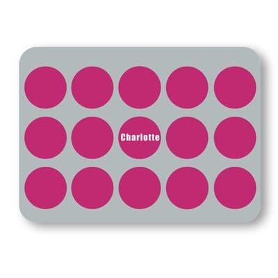 Personalised Large LF Juniors Placemat - Spotty