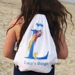 Personalised Swimming Bags - Bubbles the Little Mermaid