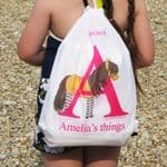 Personalised Swimming & Grooming Kit Bags - Tinker the Little Shetland Pony