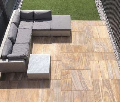 17.82 m2 Full crate deal of our Rainbow Honed & Sawn Patio Packs (1)