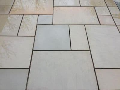 17.82 m2 Full crate deal of our Raj Green Honed & Sawn Patio Slabs 900 x 600 x 20