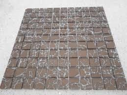 1m2 CLEARANCE Galaxy Brown & Silver Glass Mosaic 300 x 300 x 6 mm