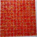 1m2 CLEARANCE Galaxy Red & Gold Glass Mosaic 300 x 300 x 6 mm
