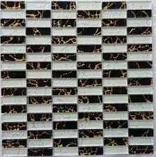 1m2 CLEARANCE  San Diego ( SM04) Glass Mosaic 300 x 296 x 5 mm