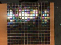 3m2 CLEARANCE F05 Glass Mosaic 327 x 327 x 4 mm